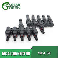 Photovoltaic Solar Panel parallel connection MC4 5T 1 to 5 in Branch Electrical Solar Connector Cable Wire Connect