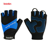 Boodun Men Women Cycling Gloves Summer Fitness Half Finger Bicycle Gloves Breathable Silicon Gel Palm Pad