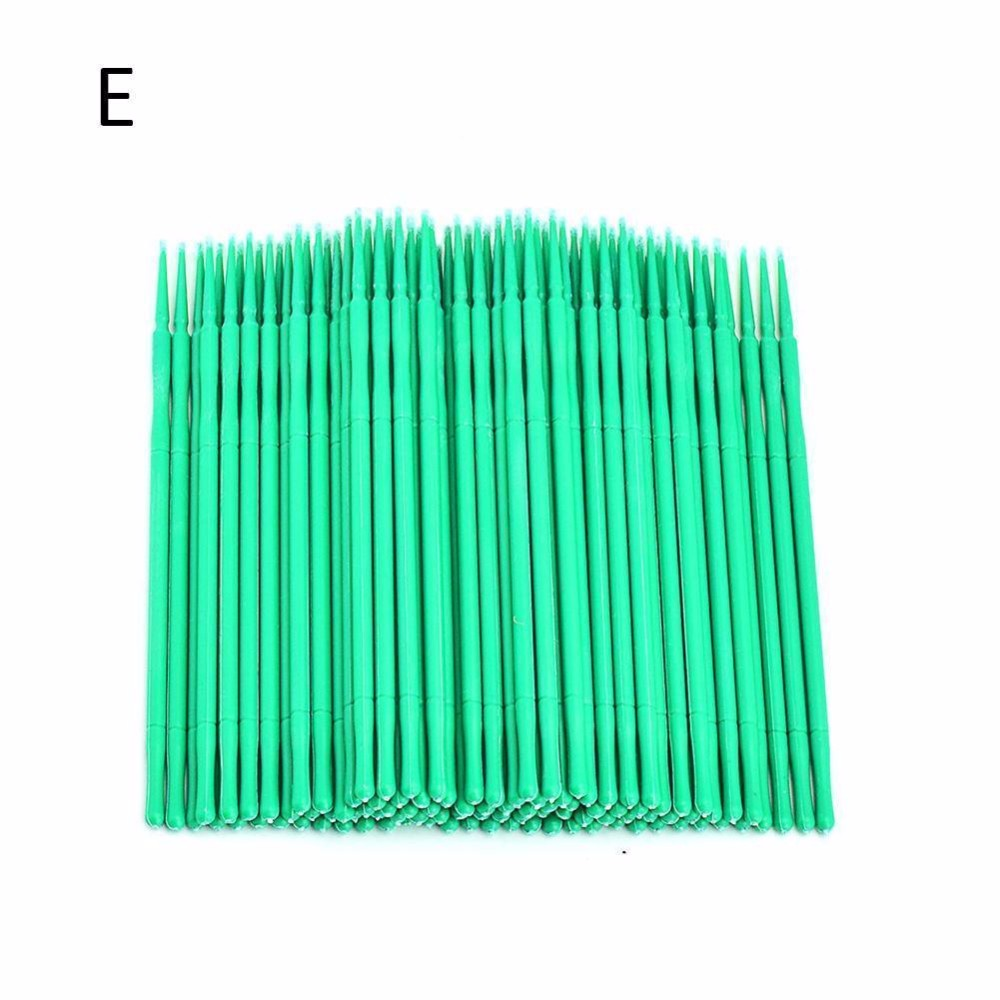 100 Pcs Eyelash Brushes Dental Micro Brushes Disposable Materials Eyelashes Mascara Wands Applicators Medium Fine Makeup Tools 2
