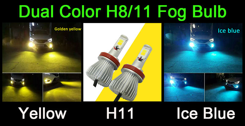 dual color led fog bulb