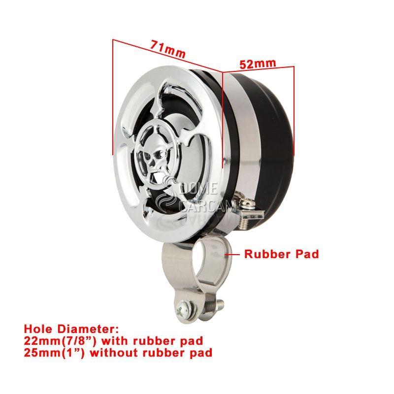 Skull Amplifier Motor Radio MP3 Handlebar Mount Speaker Cocok Untuk - Aksesori dan suku cadang sepeda motor - Foto 6