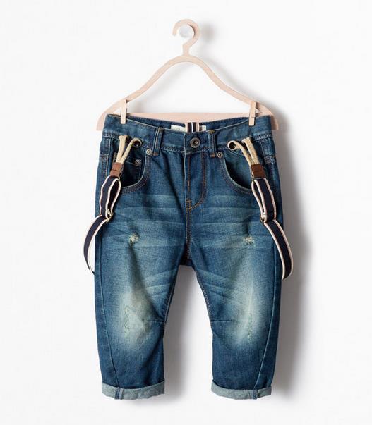 Chegam novas moda Z marca bebés meninos jeans crianças calças macacões calças para criança Distrressed jeans para meninos crianças calças