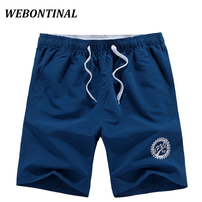 f8fe2e93d3e5 WEBONTINAL Sommer Strand Shorts Männer 2017 Casual Marke Bermuda Board  Polyester Brief Druck Herren Jugendlichen der