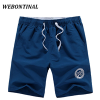 WEBONTINAL Summer Style Beach Shorts Men 2017 Casual Brand Clothing 100 Polyester Letter Printing Adolescent S