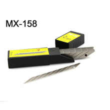 MX-158 Metal Carbon Steel Snap-off Utility Sharp Knife Replacement Blade 9mm 50-Blade/Pack