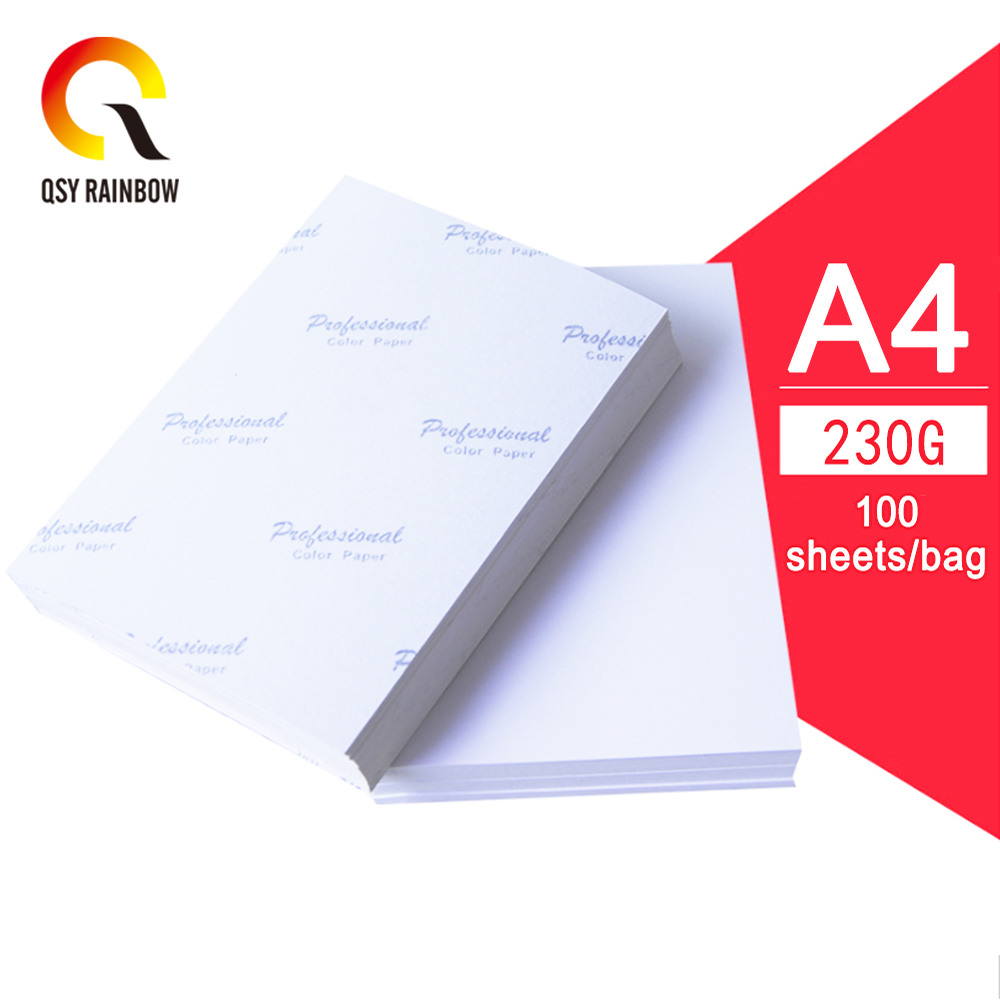CMYK Photo Paper Color Ink Jet Paper A4 230g 100 Sheets/bag Printing Photo Paper Suitable For Inkjet Printer