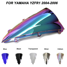 Motorcycle Motorbike Windshield Double Bubble Windscreen Wind Deflectors For Yamaha YZFR1 YZF R1 yzf r1 2004-2006 2004 2006 2005 motorcycle accessories rear fender carbon fiber guard fairing abs for yamaha yzf r1 2004 2005 2006 yzfr1 04 05 06