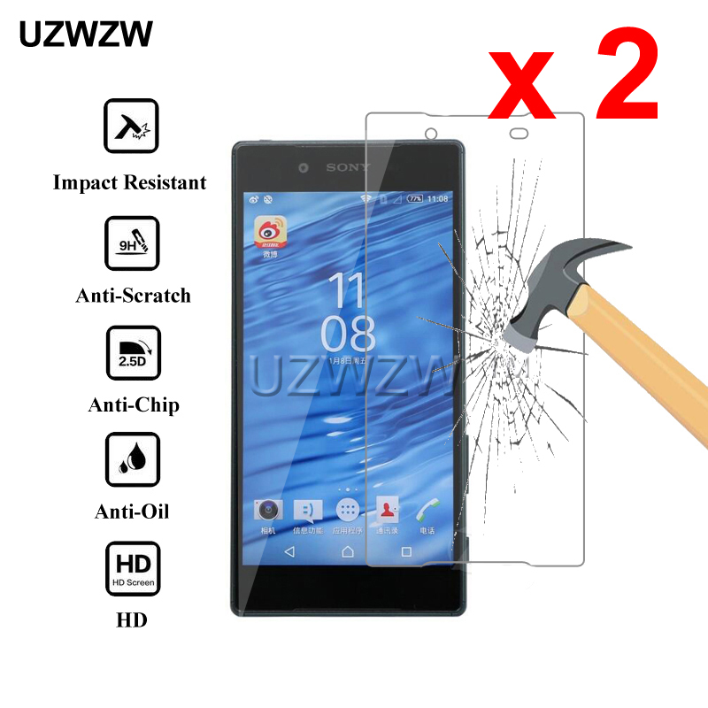 2pcs For Sony Xperia Z5 0.26mm 2.5D Tempered Glass Protective Glass Film Screen Protector For Sony Xperia Z5 Glass