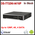 На Складе Hikvision POE NVR 32CH DS-7716NI-I4/16 P 6CH NVR с 4 SATA и 16 POE, HDMI до 4 К, сигнализация Записи до 12 МП