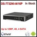 Em estoque hikvision poe nvr 32ch ds-7716ni-i4/16 p nvr 6ch com 4 sata e 16 poe, hdmi até 4 k, alarme de Gravação de até 12 MP