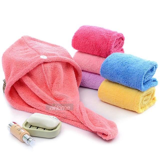 Girls Hair Drying Hat Quick dry Hair Towel Cap Hat Bath Hat Microfiber Solid Towel Cap Super Absorption Turban Hair Dry Cap