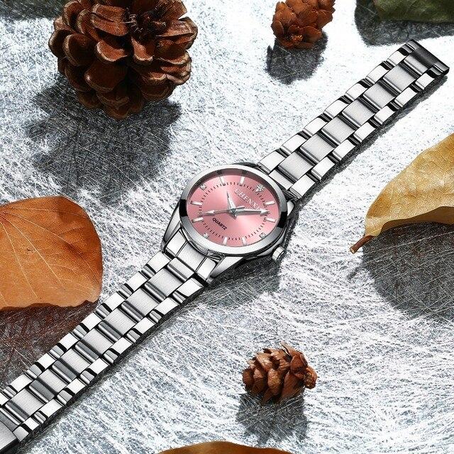 CHENXI Fashion Women Colorful Dial Reloj Mujer Concise Girl Wrist Watches Female Quartz Watches Ladies Rhinestone Clocks Watch