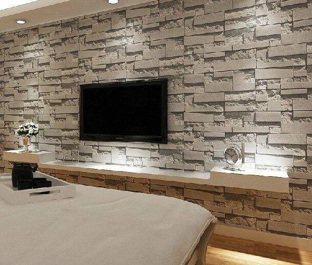 Achetez en gros stacked stone wallpaper en ligne des - Wallpaper living room modern ...