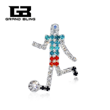 Handmade Football Player Brooch Pin for Fans FREE SHIPPING