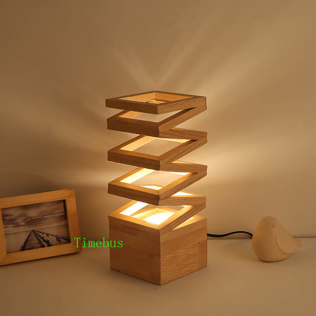 US $123.25 15% OFF|Contemporary Table Lamps Bedroom Study led Desk Light  Wedding Flower Arrangement Table Light Office Art Gift led Table Lamp  Wood-in ...