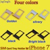 Brand new 7G 7 SIM Card Reader Holder Tray for Apple For iPhone 7 7G Sim Slot Tray Adapter gold/Silver/black/Bright black