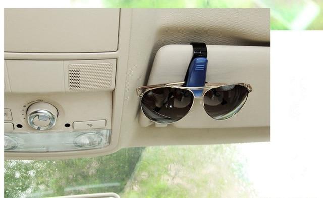2ba853004609 Car glasses clip Holder Ticket Clip for Chrysler Aspen Pacifica Cruiser  Sebring Town for Dacia duster logan sandero stepway mcv