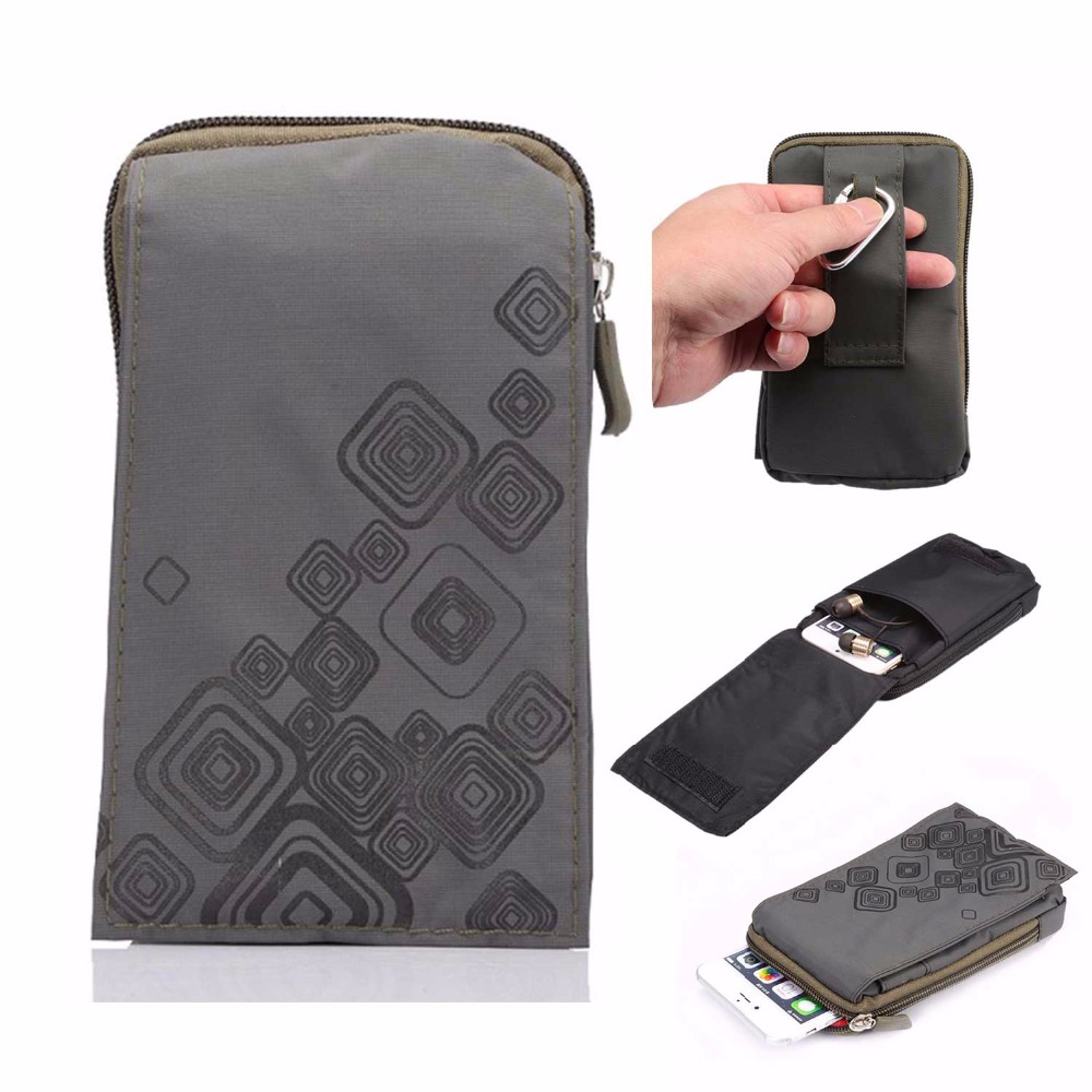 SUBIN Outdoor Sports Wallet Mobiltelefonväska Army Cover Case för Multi Phone Model Hook Loop Belt Pouch Holster Bag