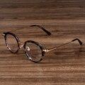 NOSSA Floral Eyewear Oval Do Vintage das Mulheres E Dos Homens Óculos de Acetato de Retro Óculos de Metal Quadro Miopia Prescrição Frame Ótico