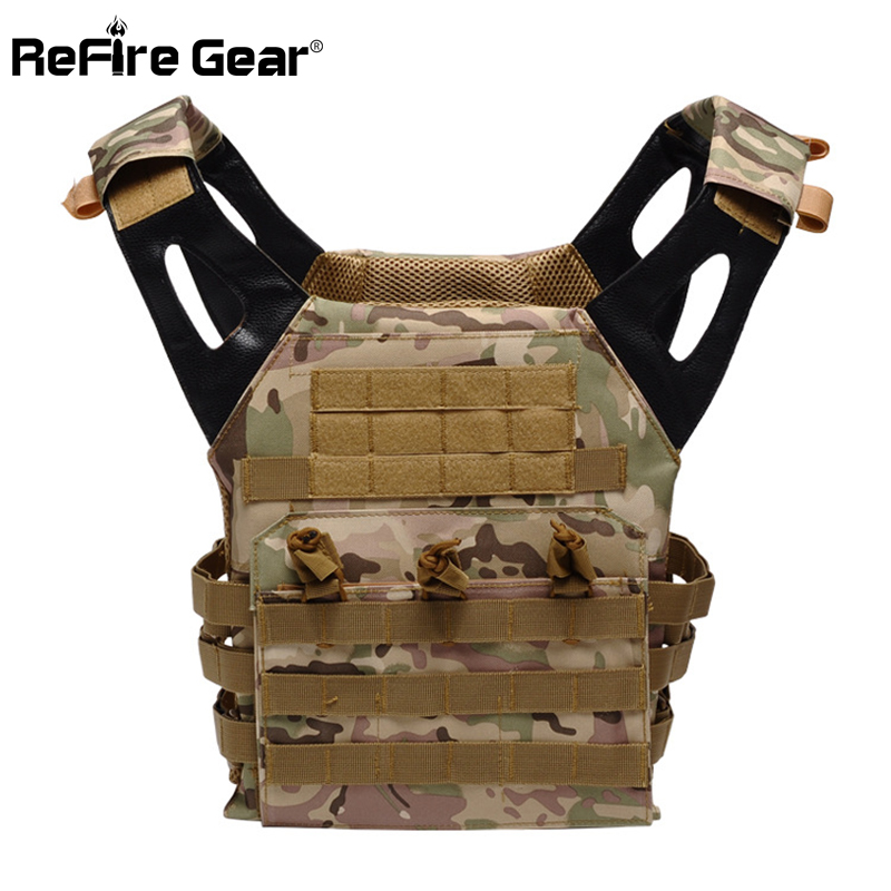 ReFire Gear Men Special Ops Molle Army Vest Soldiers Combat Military Tactical Vests Fast Move Airsoft Paintball Camouflage Vest