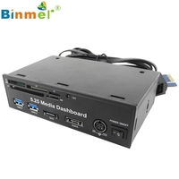 Top Quality Binmer 5 25 PC Media Dashboard PCI E Port USB 3 0 HUB All