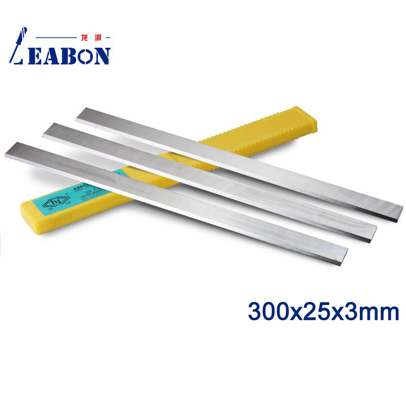 LEABON HSS W6% Wood Planer Blades 300x25x3mm Woodworking Power Tools Accessories for Thickness Planer   (A01006014)