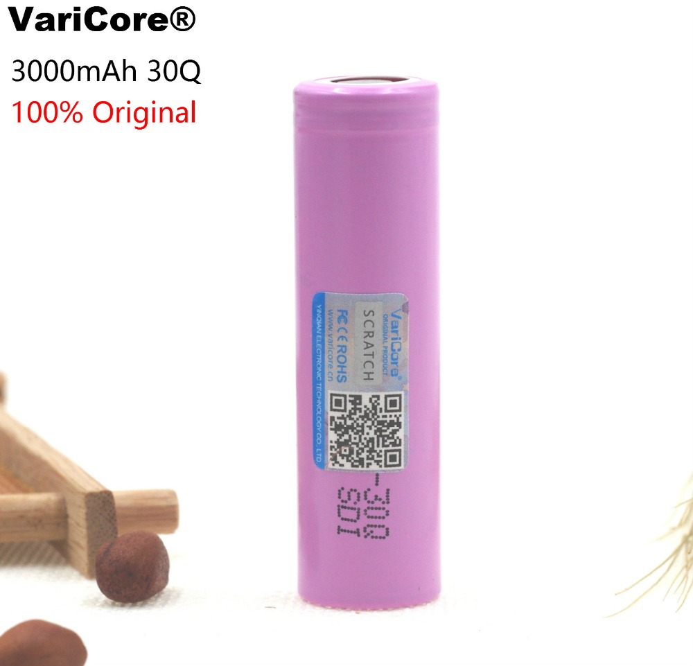1PCS 100% Original brand new INR18650 30Q 18650 3000mAh lithium Rechargeable battery For Electronic cigarette Batteries