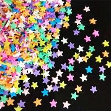 20 г/лот звезда полимерная Горячая мягкая глина разбрызгивает Красочные для поделок DIY пластик klei крошечные милые частицы грязи желтый