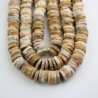 Faceted Coral Jades Heishi Loose Beads,Drilled Freeform Coin Slabs Beads Jewelry Making