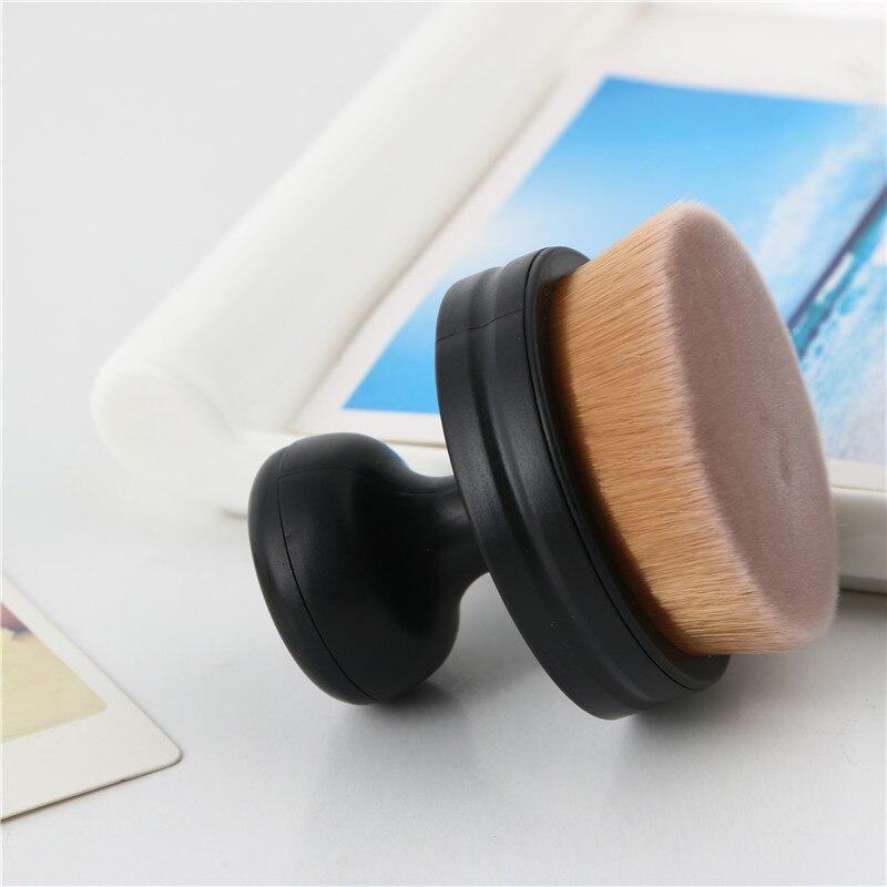 MECOLOR 1 шт. кисти для макияжа пухлые Pier фундамент кисть плоская крем Профессиональная Косметика Make up Brush пудра инструменты