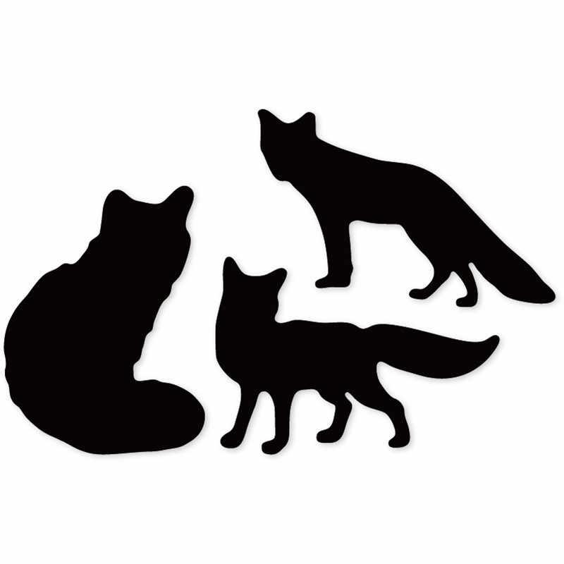 Ufurty morre Três raposas Frame do Molde da Faca De Corte De Metal Morre novo 2019 Para Cartões de Papel DIY Scrapbooking Fazer embossing morre
