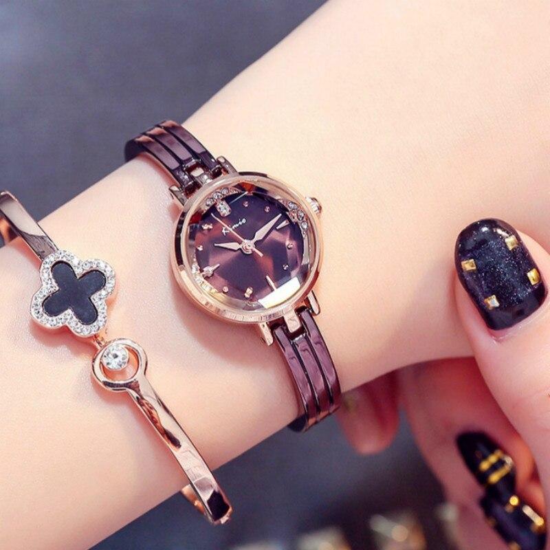 KIMIO Bracelet Watches Women Quartz Wristwatch Female Waterproof Stainless Steel Dress Clock Zegarki Damskie Relogio Feminino цена 2017