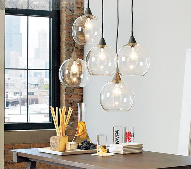 Nordic industrial glass ball pendant light led hanging lamp design nordic industrial glass ball pendant light led hanging lamp design suspension luminaire e27 110 220v mozeypictures Gallery