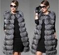 Европейский станция новая высокая имитация меховой жилет жилет женщины вся кожа лисий мех длинный участок Корейской версии пальто