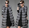 European station new high imitation fur vest vest women whole leather fox fur long section of the Korean version of the coat