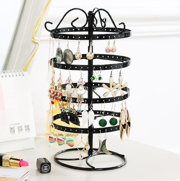 Creative earring rack jewelry display rack jewelry box rotating rack hanging earring necklace household storage in Storage Holders Racks from Home Garden