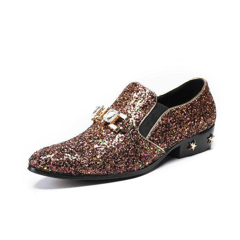 Cor Dos As Casuais Nova Moda De Misturada Sapatos Lantejoulas Cristal Metal Homens Picture Respirável Beertola Pano Decoração Confortáveis SgwqAxBw6