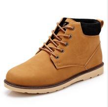 Mode Hommes bottes de Travail de style Britannique Automne Hiver Respirant chaud Cheville bottes Mâle Travail En Cuir chaussures 01