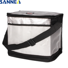SANNE 10L 15L Thermal Food Lunch Bags Cooler Insulated Shoulder for family Picnic Aluminum Foil CL610