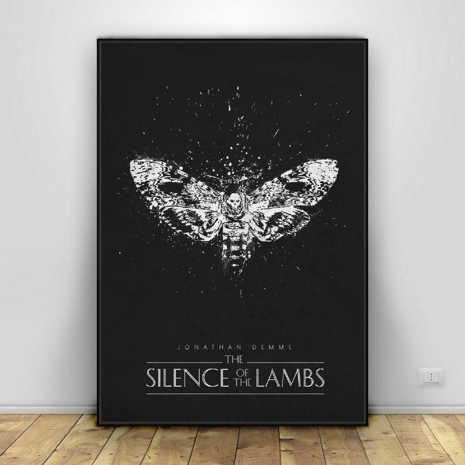 Reprint For Silence of the Lambs Movie Art Poster HD Painting Home Wall Decor