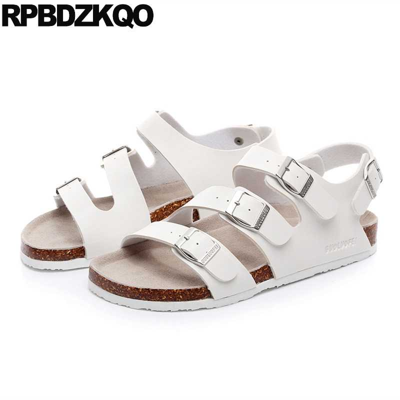 701f0e85f Plus Size Shoes White 45 Cork Men Sandals Leather Summer Japanese 2018  Roman Waterproof Large Outdoor