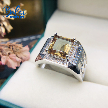 Bolai amazing color change zultanit ring 925 sterling silver fine gemstone nano diaspore jewelry for women men's wedding rings 1