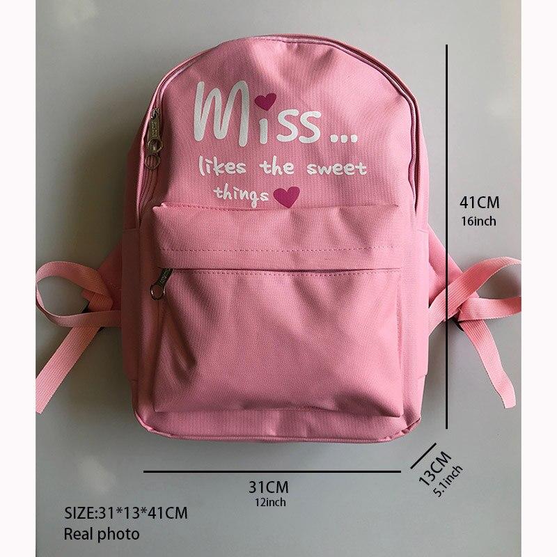 4Pcs set Women School Backpacks Nylon Schoolbag For Teenagers Girls Student Book Bag Boys Satchel Bolsas 4Pcs/set Women School Backpacks Nylon Schoolbag For Teenagers Girls Student Book Bag Boys Satchel Bolsas Mochilas Sac A Dos