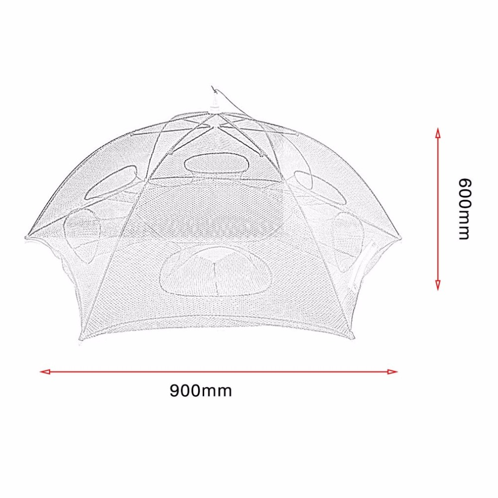 Hand casting Automatic Fishing Net Shrimp Cage Nylon Foldable Crab Fish Trap Cast Net Cast Folding Fishing Network 6 Holes in Fishing Net from Sports Entertainment