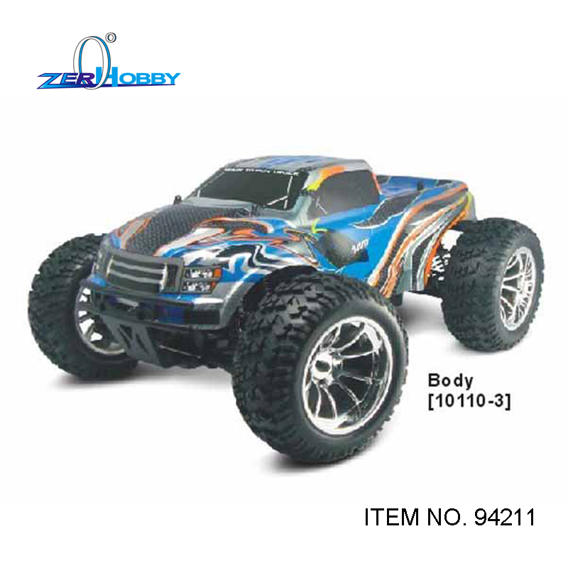 hsp racing car CRAZYIST 94211 RTR 1/10 scale electric 4wd off road rc monster truck brushed rc540 motor 7.2v 1800mAh battery 02023 clutch bell double gears 19t 24t for rc hsp 1 10th 4wd on road off road car truck silver