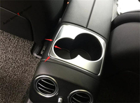 Yimaautotrims Armrest Box Water Cup Holder Frame Panel Sequins Cover Trim Fit For Mercedes Benz E-Class E CLASS W213 2016 - 2019