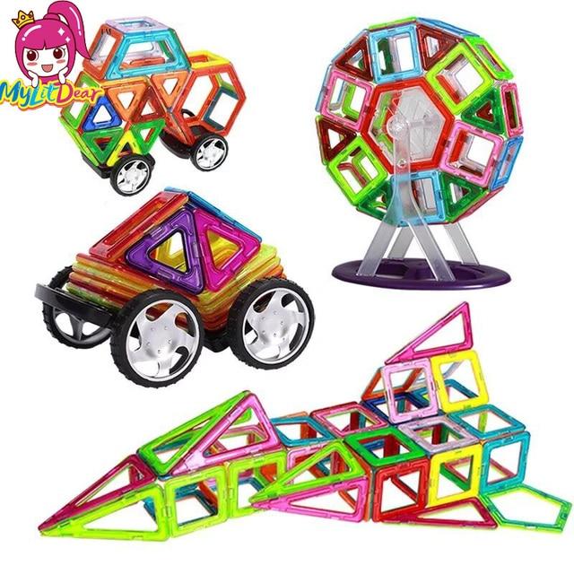 Big Size Magnetic Blocks Technic Plastic Building Blocks Girl&Boy Magnetic Blocks Enlighten Blocks Assembly Toys For Children