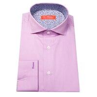 Puur katoen lange mouw zijde satijn gezicht mannen roze jurk shirt custom tailor cut bespoke mtm mannelijke blouse gratis verzending
