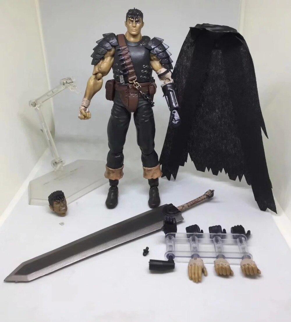 Game Berserk Beruseruku Figma 359 Black Swordman Action Figures Mode Toys 17cm (6)