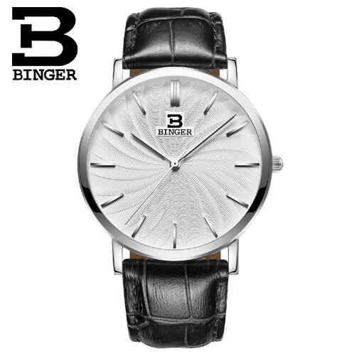 Switzerland Binger Quartz Watch Men 2017 Top Brand Luxury Famous Wristwatch Male Clock Wrist Watch Hodinky Relogio Masculino new stainless steel wristwatch quartz watch men top brand luxury famous wrist watch male clock for men hodinky relogio masculino